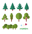 trees icon flat vector image vector image