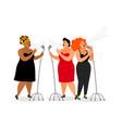 trio international singers vector image vector image