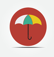 Umbrella Flat style icon vector image vector image