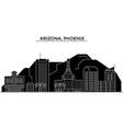 usa arizona phoenix architecture city vector image