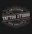 vintage tattoo logo design vector image