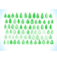 watercolor green drops isolated on whit vector image vector image
