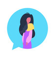 woman chat bubble character avatar isolated female vector image vector image