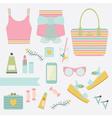 summer women fashion icon set vector image