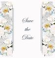 botanical spring wedding invitation card template vector image vector image