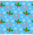 Candy cane and mistletoe vector image vector image