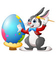 cartoon broken egg cracked eggs easter egg chi vector image