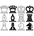 Chess symbols vector image vector image