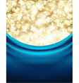 christmas background with blue silk vector image vector image