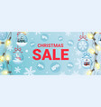christmas sale promo banner vector image vector image