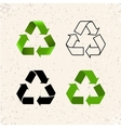 Circular arrows recycle icons isolated on vector image vector image