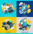 cloud technology 2x2 design concept vector image
