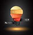 Creative light bulb idea with number banners vector image vector image