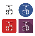 dotted icon 3d printer in four variants with vector image