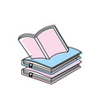 education notebooks object with notepaper design vector image vector image