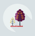 flat modern design with shadow icons tree vector image vector image