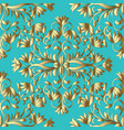 floral gold hand drawn seamless pattern light vector image vector image
