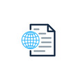 globe document logo icon design vector image