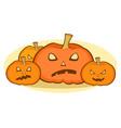 halloween pumpkins scary face seasonal vector image vector image