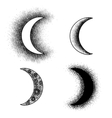 Hand drawn moon phases silhouettes vector image vector image
