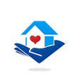 home love heart logo vector image