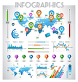 Infographic elements - set of paper tags vector image vector image