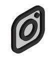 instagram logo isometric icon vector image