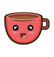 kawaii cartoon coffee cup vector image vector image
