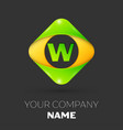 letter w logo symbol in colorful rhombus vector image vector image