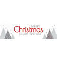 merry christmas and happy new year elegant white vector image vector image