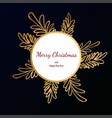 merry christmas doodle card simple frame gift vector image vector image