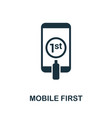 mobile first icon symbol creative sign from seo vector image vector image