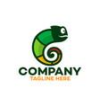modern smart chameleon logo vector image