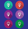 navigation pointers of map vector image