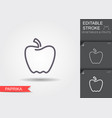 paprika line icon with editable stroke vector image vector image
