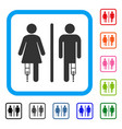 patient wc persons framed icon vector image