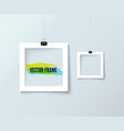 photo frame collection realistic vector image vector image