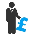 Pound Investor Flat Icon Symbol vector image vector image