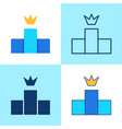 ranking icon set in flat and line style vector image vector image