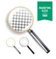 realistic magnifying glass set of vector image