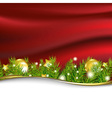 Red New Year Card With Garland vector image vector image