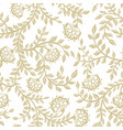 seamless lace flowers on beige vector image vector image