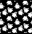 seamless pattern black background with ghost vector image