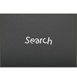 Search interface drawn with chalk on blackboard vector image vector image