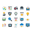 seo and web optimization icons set vector image vector image