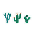 set different prickly desert plants or cacti vector image vector image