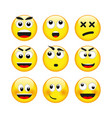 set of emotions vector image