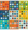 Set of fashion flat icons vector image