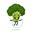 sports vegetable character cute healthy fruit and vector image