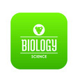 structure biology icon green vector image vector image